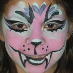 face paint pink tiger